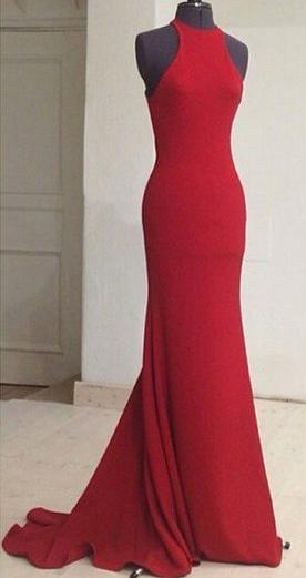 Simple Mermaid Long Prom Dress Fashion Formal Dress YDP0051