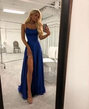Load image into Gallery viewer, Simple Long Prom Dress With Slit Sweet 16 Dance Dress Fashion Winter Formal Dress YDP0232