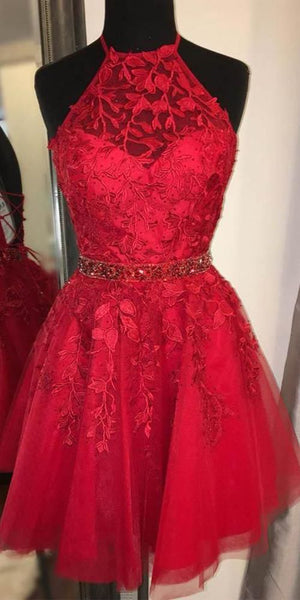 Short Homecoming Dress with Applique and Beading ,2020 School Dance Dress ,Short Prom Dress YDH0140
