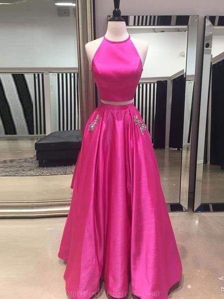 Two Pieces Long Prom Dress Custom-made School Dance Dress Fashion Graduation Party Dress YDP0468