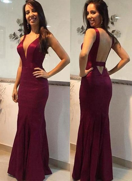 Deep V-neck Sexy Long Prom Dress Fashion Wedding Party Dress YDP0019