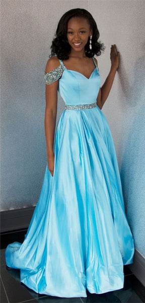 A-line Long Prom Dress School Dance Dress Fashion Winter Formal Dress YDP0298