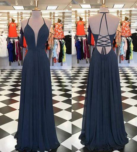 A-line Simple Long Prom Dress Fashion Wedding Party Dress YDP0028