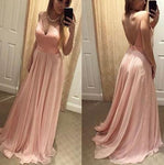 V-back Simple Long Prom Dress Custom Made Formal Dress Fashion Winter Dance Dress YDP0121
