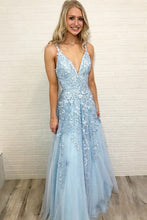 Load image into Gallery viewer, 2021 Long Prom Dresses with Appliques and Beading,Sweet 16 Dresses ,Formal Dresses ,Wedding Dress YPS1066