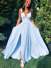 Load image into Gallery viewer, 2021 Simple Long Prom Dresses ,8th Graduation Dress ,School Dance Dress YPS1016