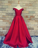 Off the Shoulder Long Prom Dress With Lace Up Back Custom Made Formal Dress Fashion Winter Dance Dress YDP0158