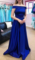 A-line Long Prom Dress School Dance Dress Fashion Winter Formal Dress YDP0348