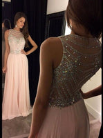 A-line Long Prom Dress with Beading Custom Made Formal Dress Fashion Winter Dance Dress YDP0112