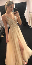 Load image into Gallery viewer, Sexy Beaded Long Prom Dresses Custom-made School Dance Dress Fashion Graduation Party Dress YDP0562