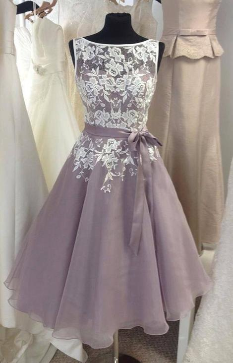 A-line Short Bridesmaid Dress Custom Made Wedding Party Dress YDB0006