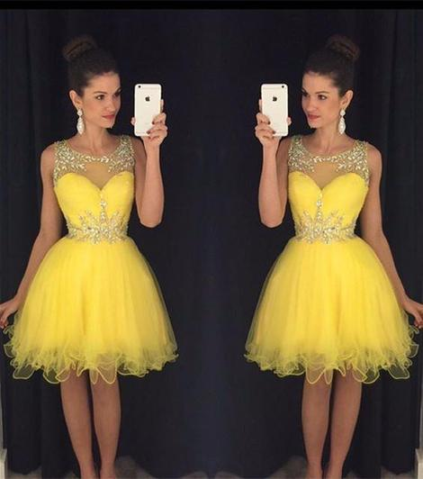 A-line Beaded Homecoming Dress Custom Made Winter Dance Dress Fashion Short Prom Dress YDP0153