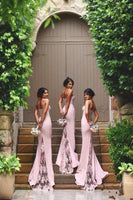 Mermaid Long Bridesmaid Dress,Popular Wedding Party Dress,Mermaid Long Prom Dress YDB0021