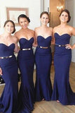 Long Bridesmaid Dress,Custom Made Wedding Party Dress YDB0036