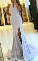 Backless Mermaid Long Prom Dress with Slit Custom Made Formal Dress Fashion Winter Dance Dress YDP0094