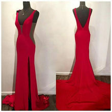Load image into Gallery viewer, Sexy Simple Long Prom Dress Custom Made Mermaid Formal Dress Fashion Winter Dance Dress YDP0140