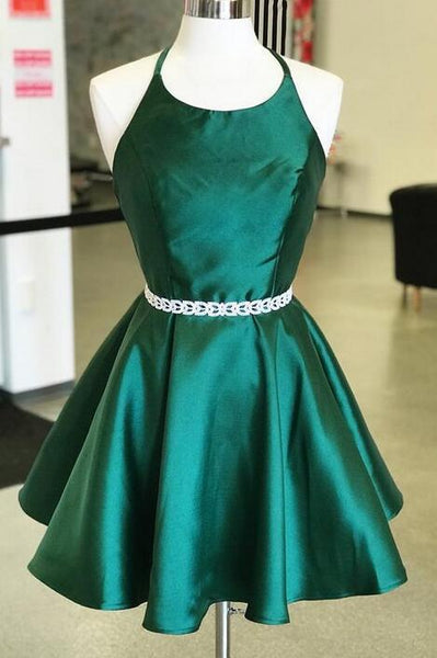 Halter Neck Backless Homecoming Dress Custom Made Winter Dance Dress Fashion Short Prom Dress YDP0144