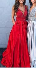 Load image into Gallery viewer, Sexy Beaded Long Prom Dresses Custom-made School Dance Dress Fashion Graduation Party Dress YDP0518