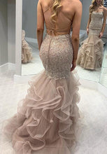 Load image into Gallery viewer, Mermaid Lace/Tulle Long Prom Dress Custom-made School Dance Dress Fashion Wedding Dress YDP0633