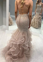 Mermaid Lace/Tulle Long Prom Dress Custom-made School Dance Dress Fashion Wedding Dress YDP0633