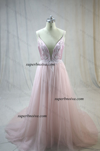 Real Photo A-line Long Prom Dress Custom-made School Dance Dress YDP0691