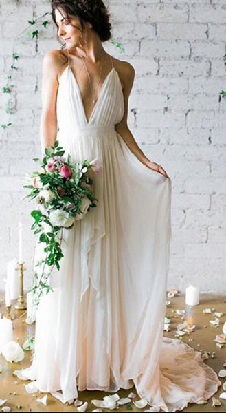 Sexy Beach Wedding Dress Fashion Custom Made Bridal Dress YDW0050
