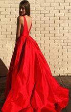 Load image into Gallery viewer, Long Prom Dress With Pocket 8th Graduation Dress Custom-made School Dance Dress YDP0695