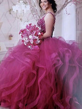 Load image into Gallery viewer, Long Prom Dress with Beading,8th Graduation Dress,Ball Gown Quinceanera Dress YDP0792