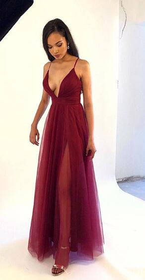 Sexy Long Prom Dress,8th Graduation Dress, Evening Gown,Winter Formal Dress YDP0834