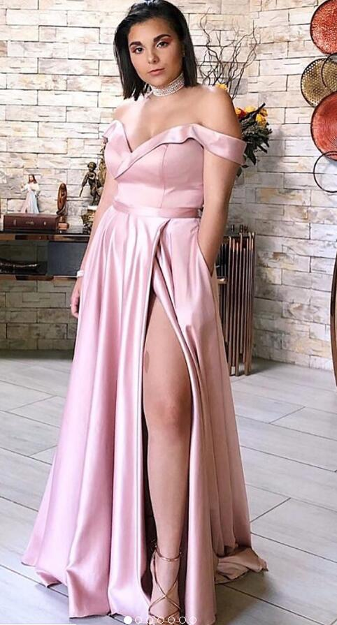 Off Shoulder Simple Long Prom Dresses,8th Graduation Dress, Evening Gown,Winter Dance Dress YDP0856