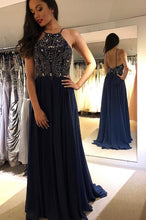 Load image into Gallery viewer, Beading Long Prom Dresses 8th Graduation Dress School Dance Winter Formal Dress YDP0944