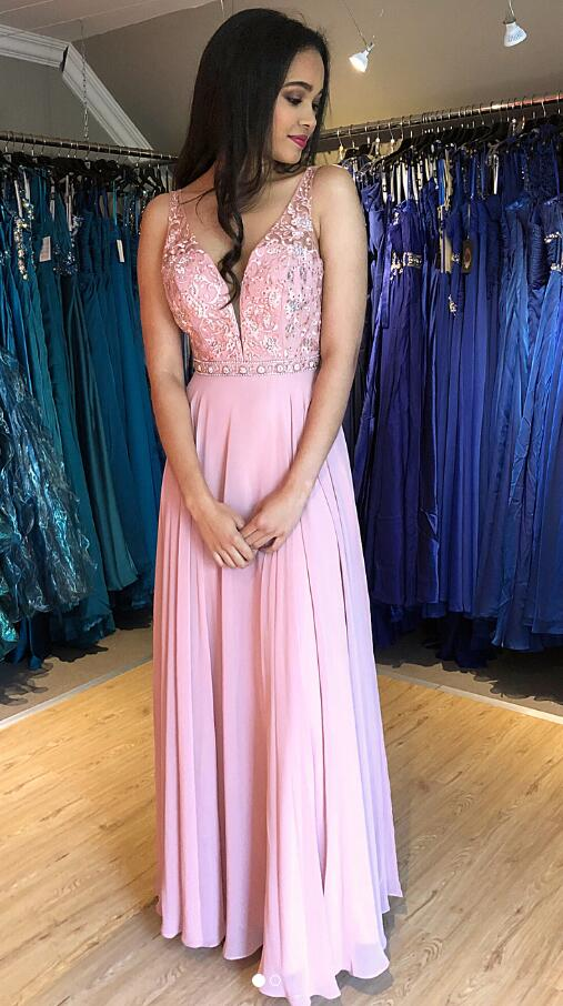 Long Prom Dresses With Applique and Beading 8th Graduation Dress School Dance Winter Formal Dress YDP0945