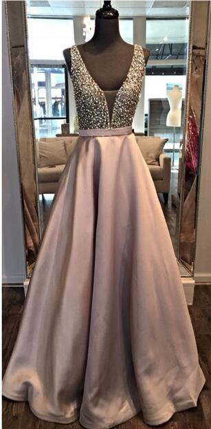 2020 Beading Long Prom Dresses 8th Graduation Dress School Dance Winter Formal Dress YDP0873