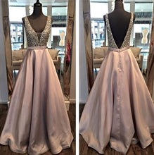 Load image into Gallery viewer, 2020 Beading Long Prom Dresses 8th Graduation Dress School Dance Winter Formal Dress YDP0873