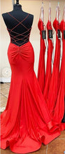 Load image into Gallery viewer, Mermaid Long Prom Dresses 8th Graduation Dress School Dance Winter Formal Dress YDP0889