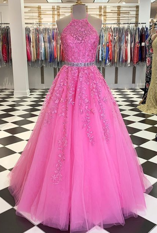 2020 Long Prom Dresses with Applique and Beading 8th Graduation Dress School Dance Winter Formal Dress YDP0914