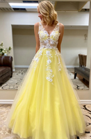 2020 Prom Dress With Applique and Beading Long Prom Dresses 8th Graduation Dress School Dance Winter Formal Dress YDP0979