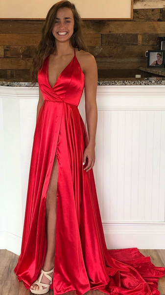 2020 Simple Prom Dress Long Prom Dresses 8th Graduation Dress School Dance Winter Formal Dress YDP1000