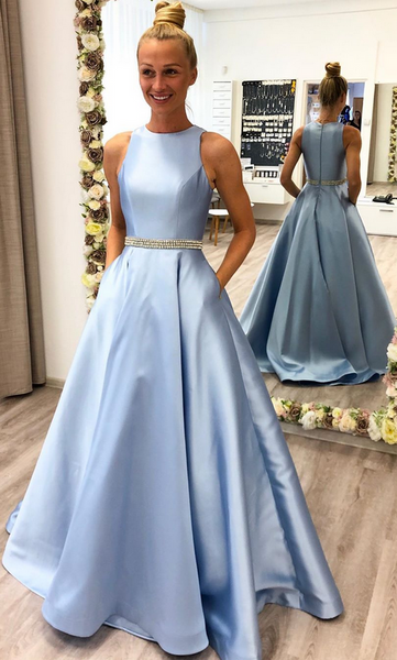 2020 Prom Dress with Beading Long Prom Dresses 8th Graduation Dress School Dance Winter Formal Dress YDP1002