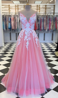 2020 Prom Dress with Applique and Beading Long Prom Dresses 8th Graduation Dress School Dance Winter Formal Dress YDP1006
