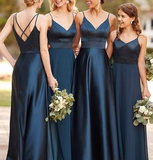 Long Bridesmaid Dress,Custom Made Wedding Party Dress ,Dresses For Wedding YDB0058