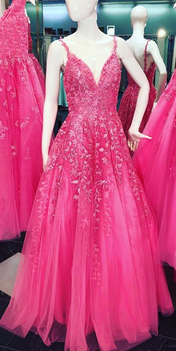 Prom Dresses With Applique and Beading Long Prom Dresses 8th Graduation Dress School Dance Winter Formal Dress YDP1034