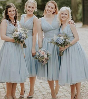 Short Bridesmaid Dress,Custom Made Wedding Party Dress YDB0062