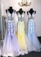 Mermaid Prom Dresses with Applique and Beading Long Prom Dresses 8th Graduation Dress School Dance Winter Formal Dress YDP1041