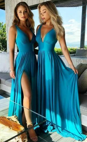 Sexy Long Bridesmaid Dress,Custom Made Future Wedding Formal Dress YDB0070