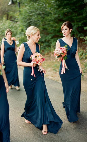 Sexy Long Bridesmaid Dress,Custom Made Future Wedding Formal Dress YDB0076