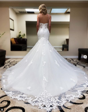 Load image into Gallery viewer, Mermaid Wedding Dress with Applique Fashion Custom Made Bridal Dress YDW0098