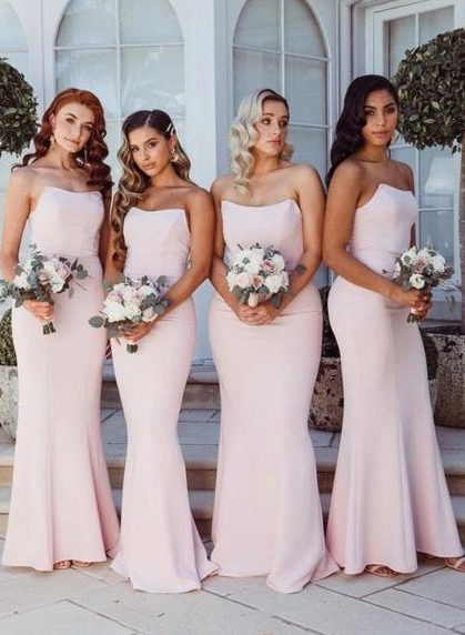Mermaid Long Bridesmaid Dress,Custom Made Future Wedding Formal Dress YDB0074