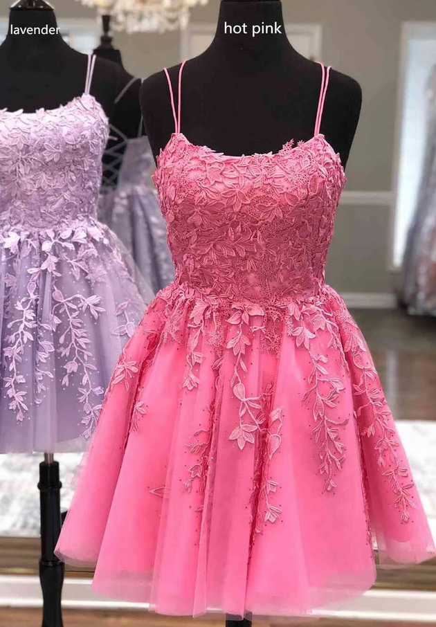 2020 Short Homecoming Dress with Appliques and Beading ,2020 School Dance Dress ,Short Prom Dress YDH0145