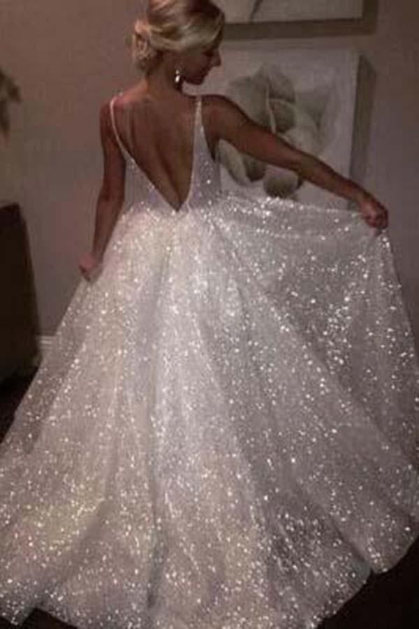 Sexy Ball Gown Wedding Dress, Fashion Custom Made Bridal Dress YDW0080